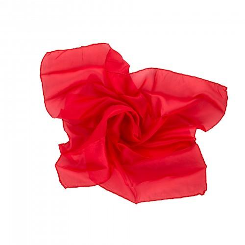 Nickituch Seidentuch rot tiefrot 100% reine Seide 55x55cm