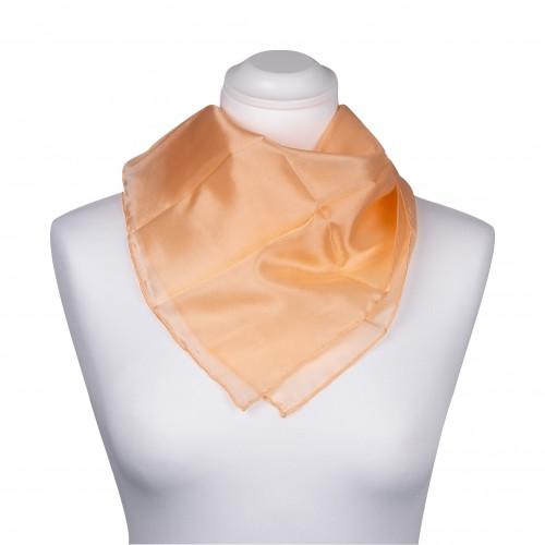 Nickituch 55x55cm apricot aprikose uni einfarbig reine Seide