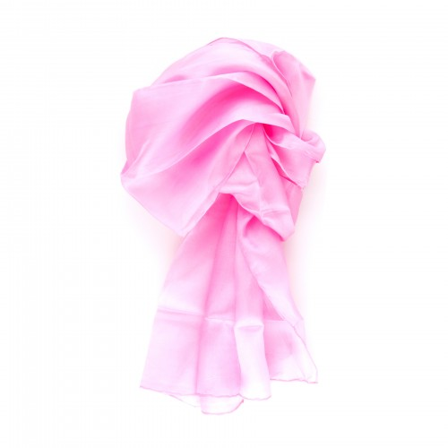 Seidenschal rosa altrosa 100% reine Seide 180x45cm