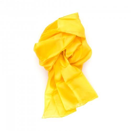 Seidenschal indisch gelb 100% reine Seide 180x45cm
