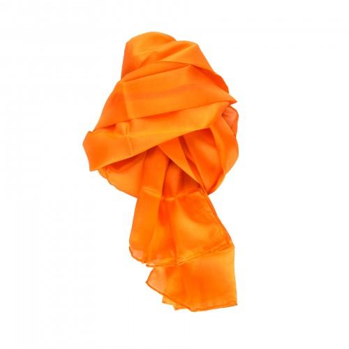 Seidenschal orange 100% reine Seide 180x45cm