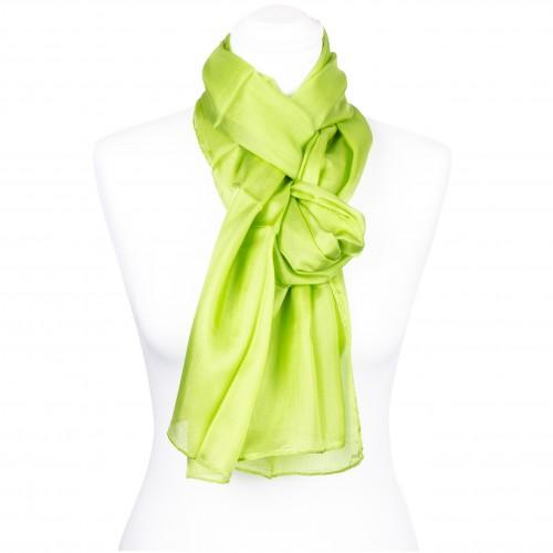 Seidenschal Grün Maigrün 150x35 cm Damen