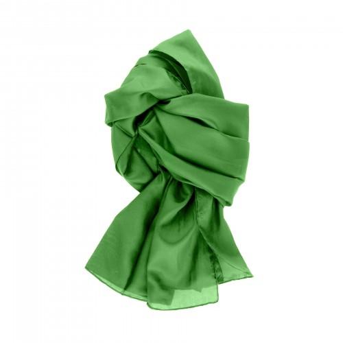 Seidenschal grün minzgrün 100% reine Seide 180x45cm