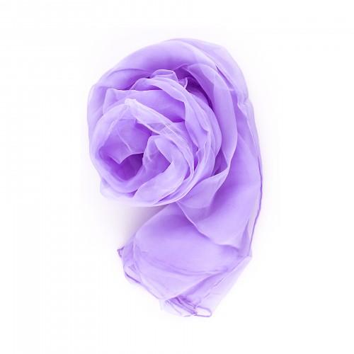 Chiffon-Seidenschal Flieder Lila Pastell 180x55cm uni einfarbig flieder lila