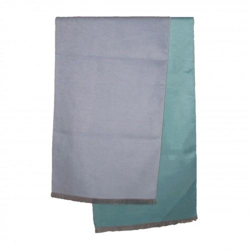 Seidenflanell Schal hellblau türkis 180x30 cm reine Seide