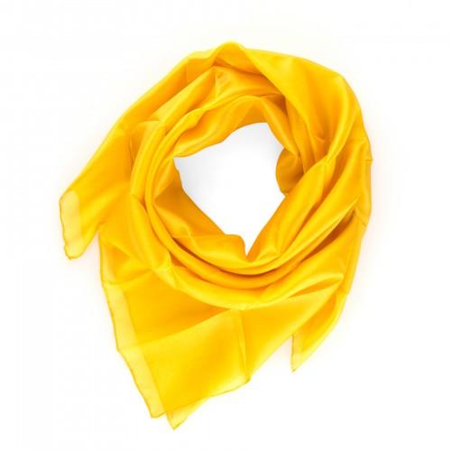 Seidentuch indisch gelb 100% reine Seide 90x90cm