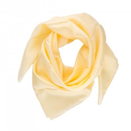Seidentuch Pastellgelb Gelb 100% reine Seide 90x90 cm uni einfarbig