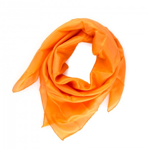 Seidentuch Orange 90x90cm Damen unifarben