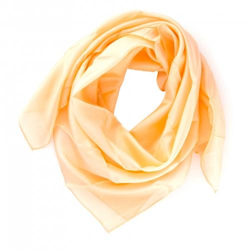 Seidentuch 90x90 cm Apricot Aprikose einfarbig uni
