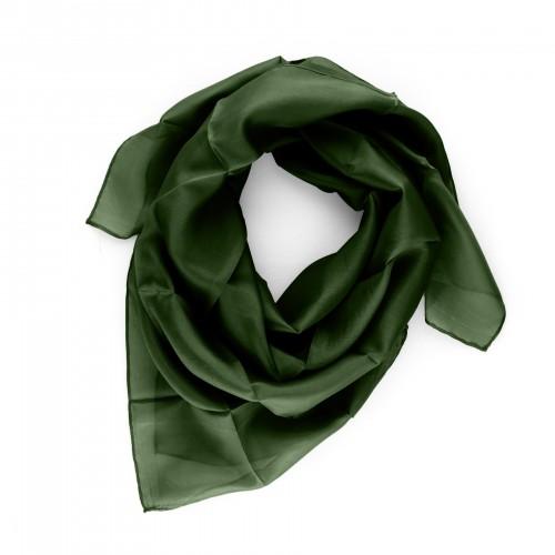 Seidentuch Waldgrün 90x90cm einfarbig uni