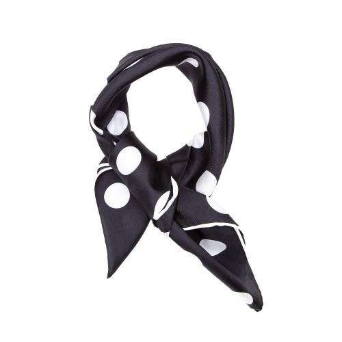 TINITEX Nickituch Halstuch schwarz gepunktet