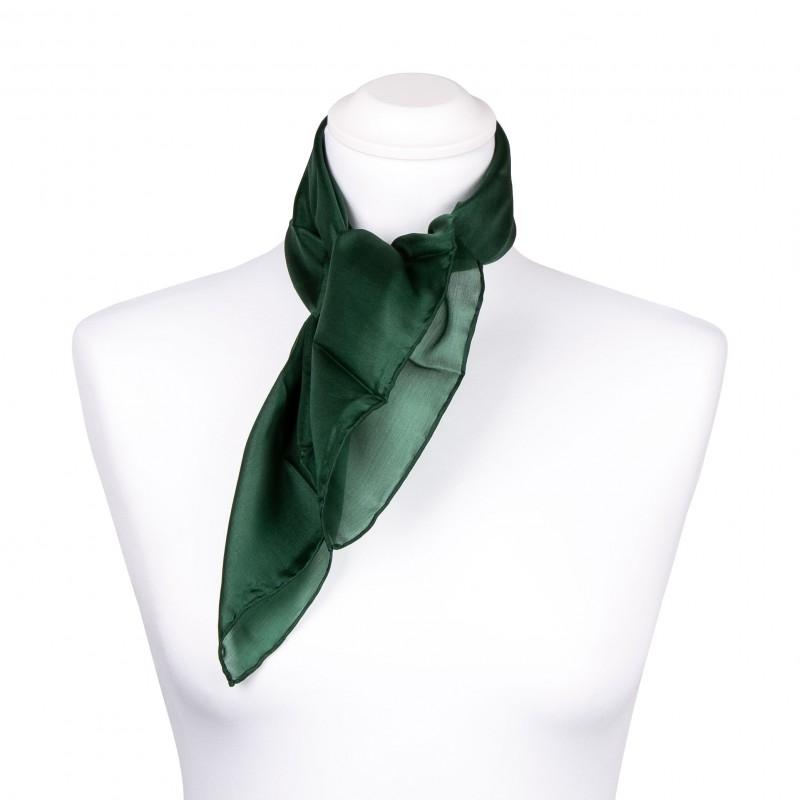 Nickituch Seidentuch grün waldgrün 100/% reine Seide 55x55cm
