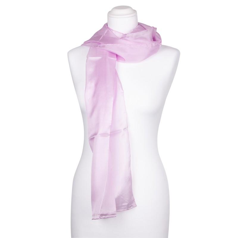 Seidenschal Halstuch Schal perle rosa pink Seide 180x45cm