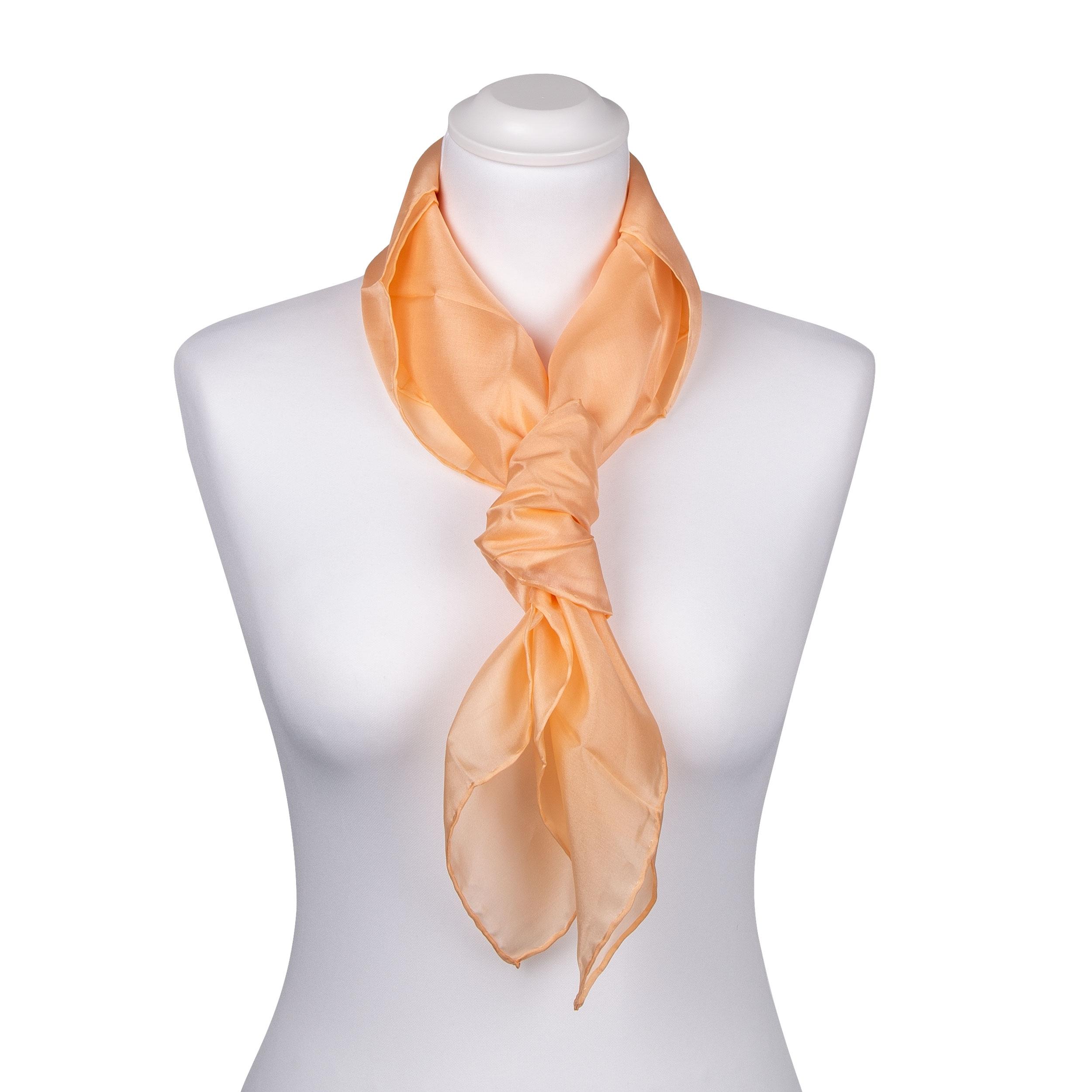 Seidentuch Halstuch Schal Apricot
