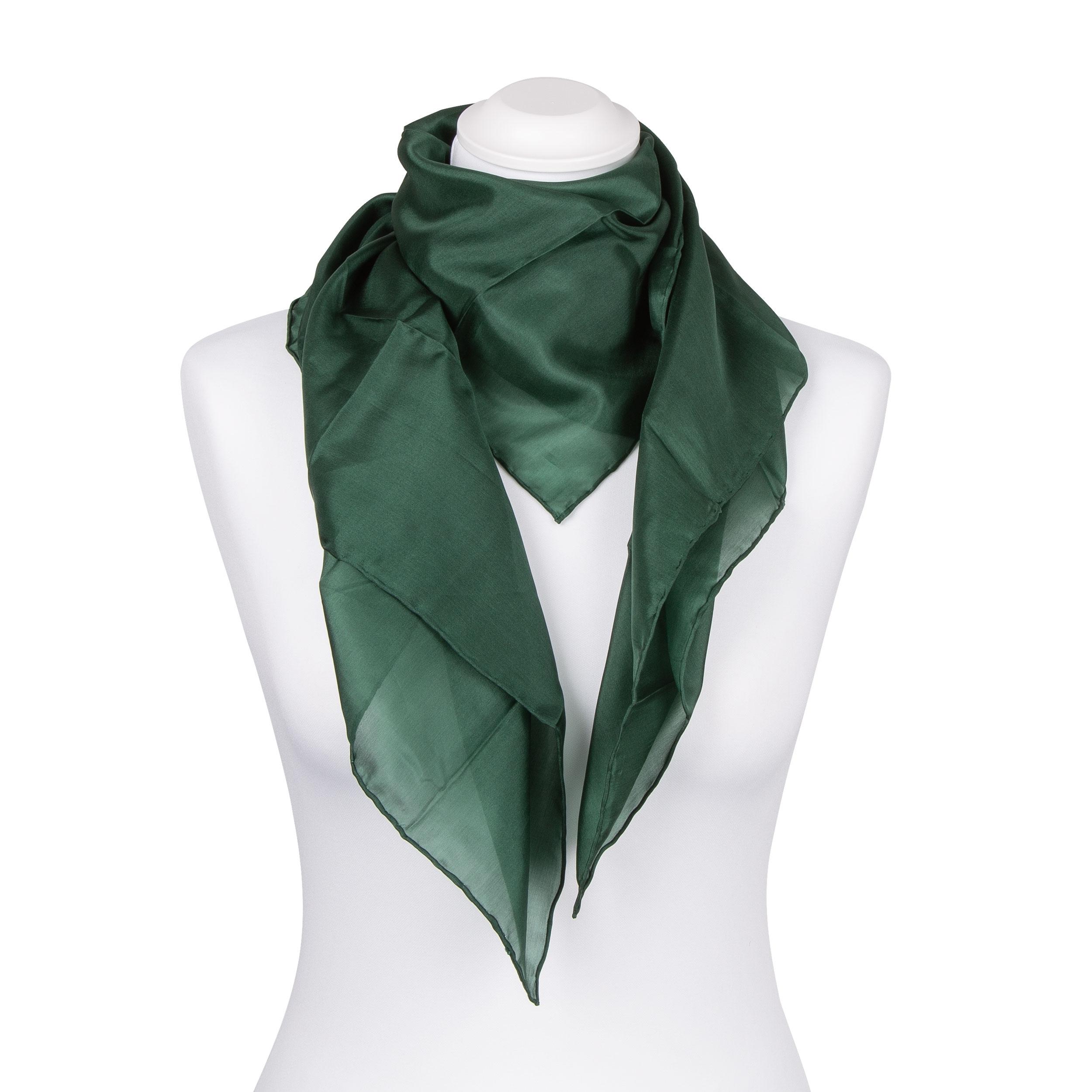 Seidentuch Halstuch Schal waldgrün